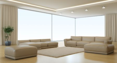 Modern interior of a drawing room Stock Photo - 7856449