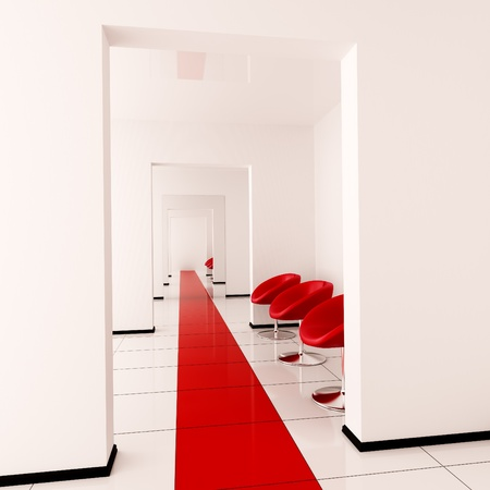Modern interior of a hall Stock Photo