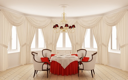 Classical interior of a dining room photo