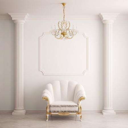 muro: Interni classici con una poltrona