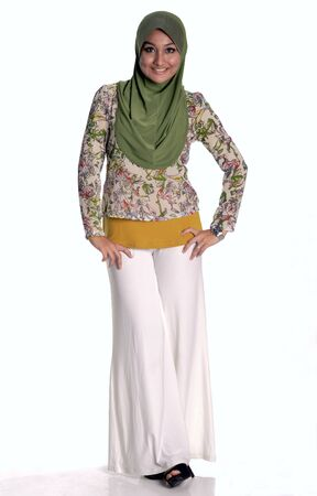 Young muslim lady smiling Stock Photo