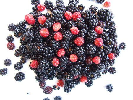 berries, fresh berries isolated on white