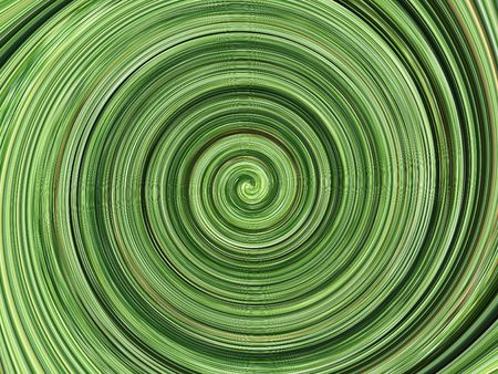 hypnotic: green spiral background Stock Photo