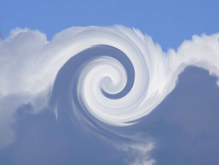 hypnotic: swirling blue and white background
