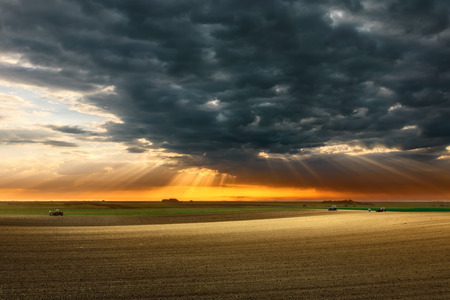 vastness: Agricultural vastness in the midst of work before the storm
