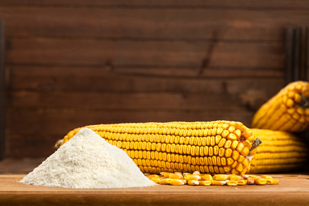 Ingredients for the preparation of bread from corn flour - healthy food