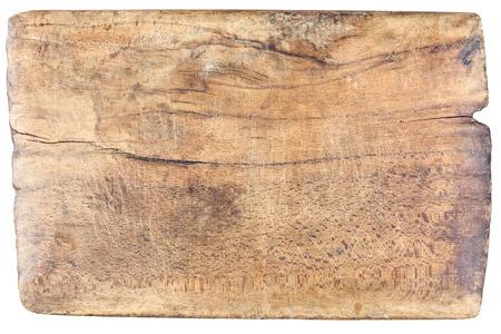 古い、ビンテージ、木製、白い背景で隔離のまな板 写真素材
