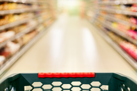 Shopping concept in supermarket for fast consumer lifestyle