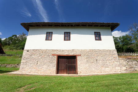 Traditional serbian rural cottage. House where was born the famous general of the First World War Zivojin Misic photo