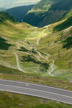 transfagarasan: Part of Transfagarasan highway which crosses Fagaras mountain range at 2,034 meters altitude in Carpathian mountains, Romania.