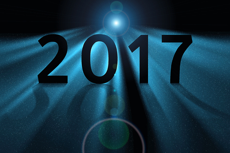 upcoming: Concept illustration for upcoming 2017 new year.