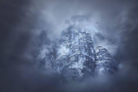 Mysterious and beautiful Tofana mountain - Dolomites, Italy.