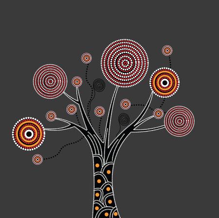 Aboriginal Albero Illustrazione