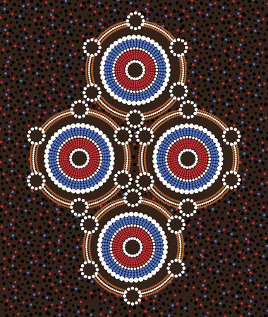 Illustration based on aboriginal style of dot painting
