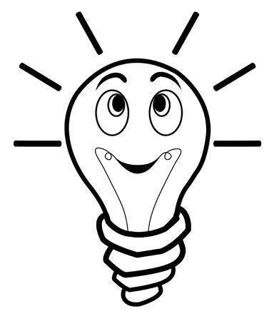 scriibble: light bulb positive idea illustration Illustration