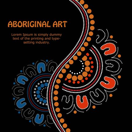 Aboriginal art Stock Photo