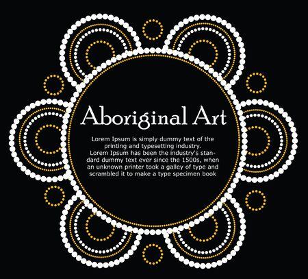 aboriginal art: Aboriginal art Stock Photo