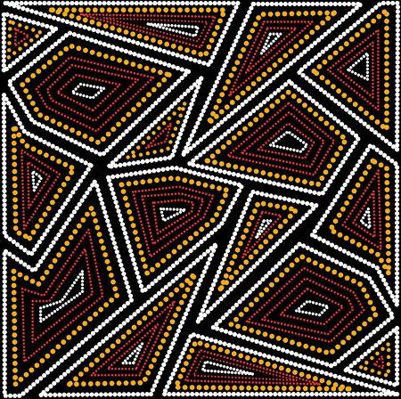 Ilustración basada en el estilo aborigen de patrón de puntos.