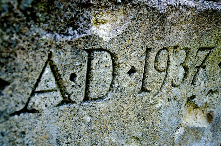 chased: Engraved inscription on the stone.