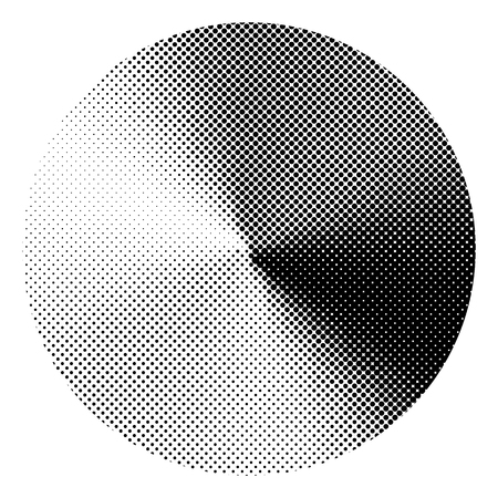 circle with conical halftone gradient effect. vector graphic for design Stok Fotoğraf - 72408971