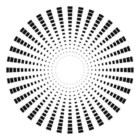 Raggi astratti. Elemento di forma del fascio di vettore per il disegno