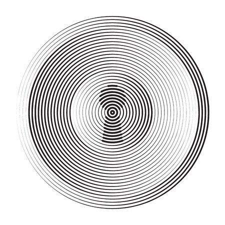 Halftone concentric circles that makes a round shape with keyhole