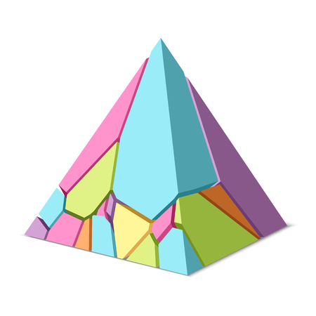 Abstract cracked pyramid Illustration