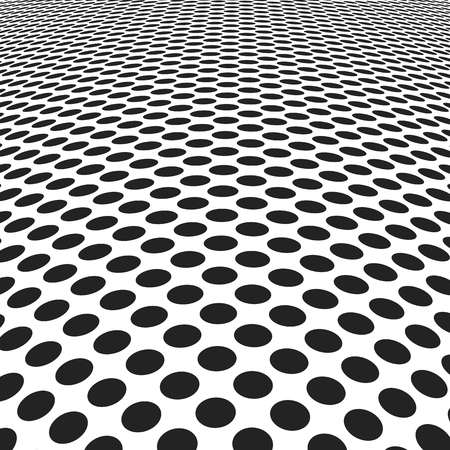 abstract spotted background. monochrome dots in perspective view.