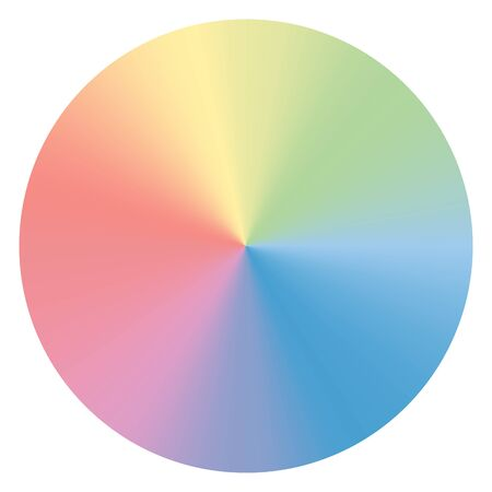 Colorful conical gradient circle. Soft color vector graphic element for design
