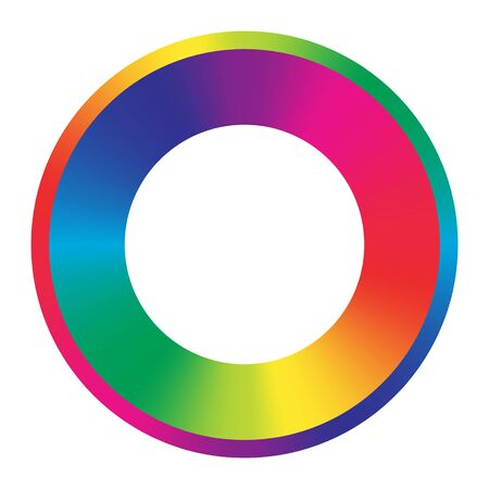 rainbow colors round frame. full spectrum color wheel. vector element or icon design