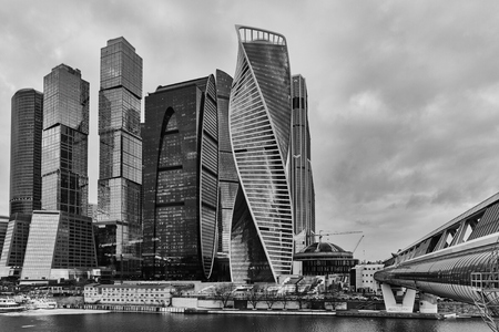futuristic city: Moscow - 10 January 2017: Moscow city business center