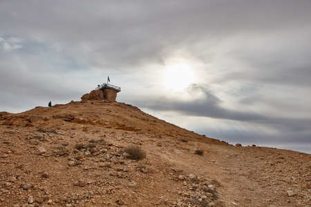A bunker on a mountain in the Negev