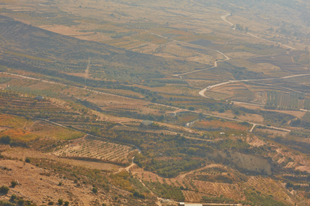 Golan villages at north Israel, aerial view