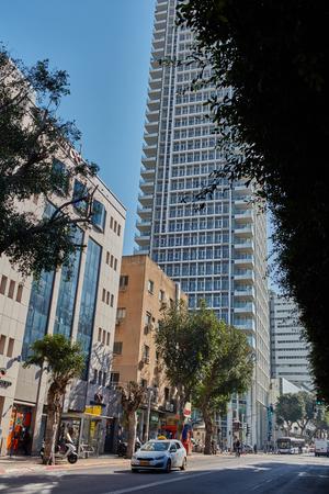 Tel-Aviv - 4 December, 2016: Tel Aviv street city view