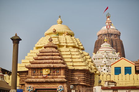 krishna: Jagannath temple in Orissa Stock Photo