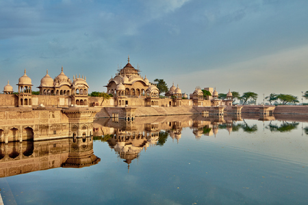 Kusum sarovar ancient abandoned temple in India UP Stock Photo