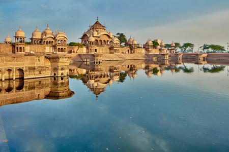 krishna: Kusum sarovar ancient abandoned temple in India UP Stock Photo
