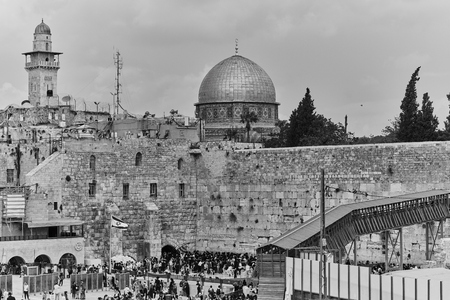Wailing wall and al aqsa mosque in Jerusalem