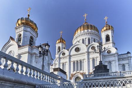 Christus die Erlöserkathedrale im Zentrum von Moskau Standard-Bild - 80732142