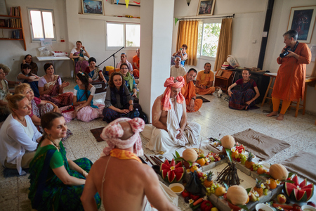 veda: Tel Aviv - 10.05.2017: Vedic traditional Hare Krishna wedding taking place in Israel