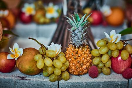 žák: Beautiful fruits arranged with blurred background Reklamní fotografie