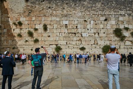 israeli: Jerusalem - 15 November, 2016: People near the Wailing wall in Jerusalem