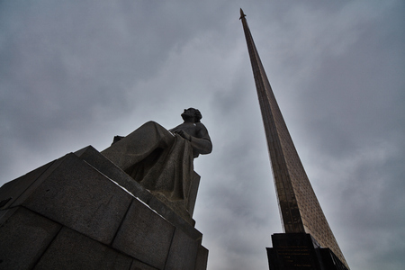 Stella monument in Moscow for cosmonautics and scientists.