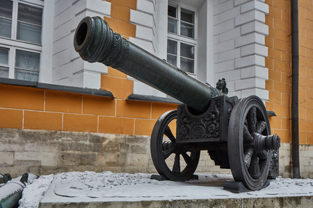 Ancient war weapons in Kremlin, Moscow.