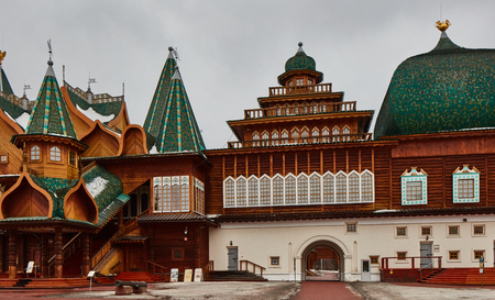Kolomenskiy palace in Moscow, local museum.