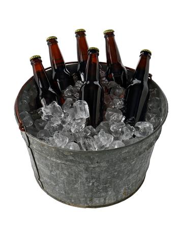 six pack: Six Pack of Beer in Ice Bucket