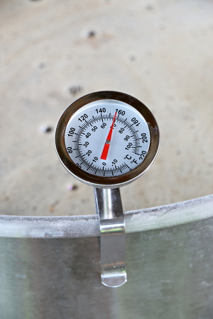 mash: Dial Thermometer in Beer Mash