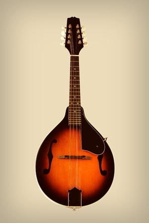 mandolin: Mandolin with Vintage Effects Stock Photo