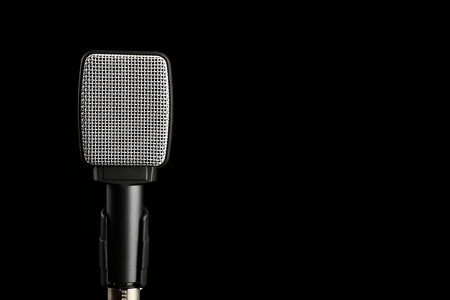 transducer: Instrument Microphone on Black Background