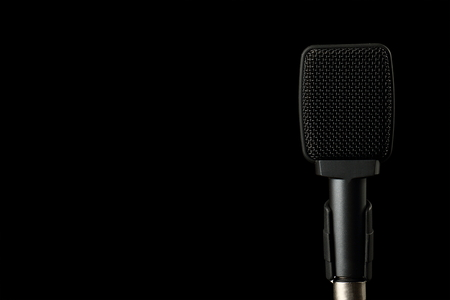 transducer: Instrument Microphone on Black Background